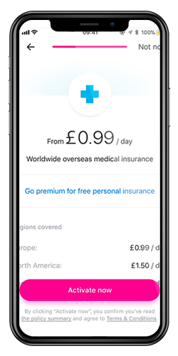 Revolut Overseas medical insurance